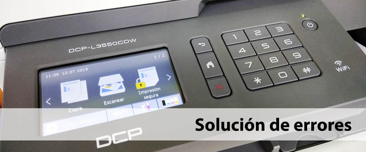 solución de errores en las impresoras